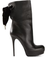 Alexander McQueen Black Platform Boots - Lyst