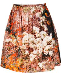 Carven Tree Print Skirt multicolor - Lyst