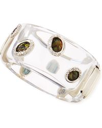 Alexis Bittar Large Clear Lucite Smoky Quartz Bangle - Lyst