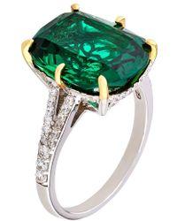 Carat* - Fancy Emerald Ring - Lyst