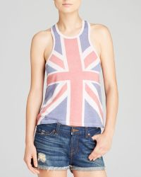 Wildfox Tank This Is England Muscle - Lyst
