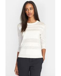 Theory 'Rainee D' Stripe Knit Sweater - Lyst