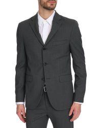 Acne Studios Drifter Grey Nylon Suit Jacket - Lyst