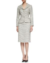 Kay Unger - Tweed Jacket & Pencil Skirt Suit - Lyst