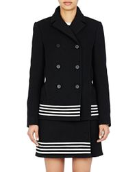 Paco Rabanne Double-Breasted Swing Coat black - Lyst