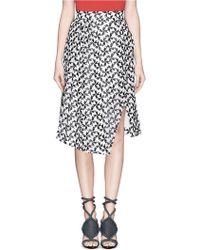Tanya Taylor 'Sammy' Spur Lace Print Skirt - Lyst