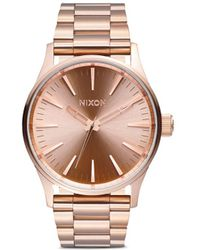 Nixon 'The Sentry 38 Ss' Watch pink - Lyst