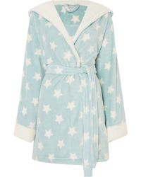 Therapy | Printed Sherpa Trimed Robe | Lyst