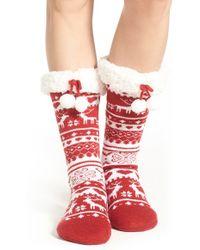 Make + Model - Fair Isle Slipper Socks - Lyst