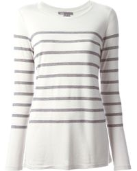 Vince White Striped T-Shirt - Lyst