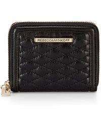 Rebecca Minkoff Mini Ava Zip Wallet black - Lyst