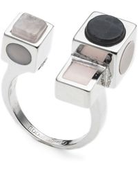 Eddie Borgo - Mosaic Rose Quartz Open Ring - Lyst