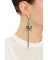 Tomasz Donocik - Chandelier Earrings In White Gold & Emerald Set - Lyst