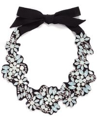 J.Crew | Fabric-backed Crystal Cluster Necklace | Lyst