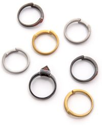 Eddie Borgo Stacked Color Rings - Multi - Lyst