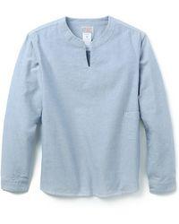 Garbstore Oxford Tunic blue - Lyst