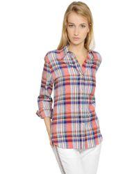 Etoile Isabel Marant Plaid Linen & Cotton Shirt - Lyst