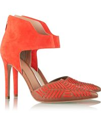 Sigerson Morrison Galicia Leather And Suede Pumps - Lyst