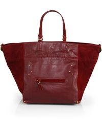 Jérôme Dreyfuss Small Slouchy Leather & Suede Tote - Lyst
