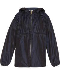 Kenzo Hooded Twill Jacket - Lyst