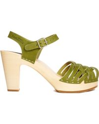 Swedish Hasbeens Braided Sky High Vintage Sandal - Lyst