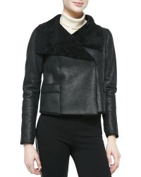 Elie Tahari Jacqueline Cropped Shearling Fur Jacket - Lyst
