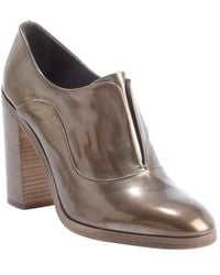 Reed Krakoff Bronze Shined Leather Oxford Pumps - Lyst
