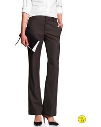 Banana Republic Factory Martin Fit Brushed Twill Pant  Brown Heather - Lyst