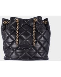 "Ferragamo Quilted Leather ""Genny"" Bag - Lyst"