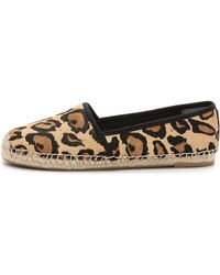Sam Edelman Lynn Haircalf Espadrilles - New Nude Leopard - Lyst