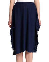 Issey Miyake Coast Knit Skirt blue - Lyst