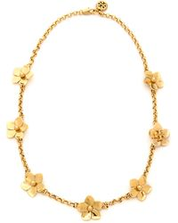 Tory Burch Cecily Simple Necklace Antiqued Gold - Lyst