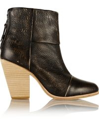Rag & Bone Classic Newbury Distressed Leather Ankle Boots - Lyst