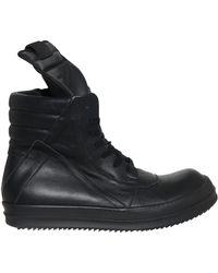 Rick Owens Geobasket Leather Sneakers - Lyst
