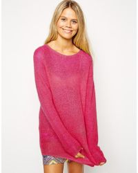 Asos Sweater in Open Mohair Stitch - Lyst