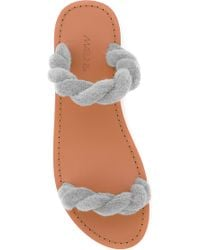 Maslin & Co | Classic Twisted Terry Cloth Slide In Beige | Lyst