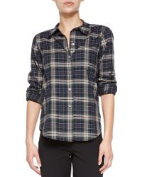 Theory Perfect Plaid Improvise Button-down Shirt - Lyst