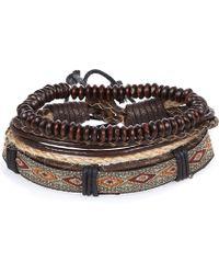 River Island - Brown Beaded Bracelets Pack - Lyst