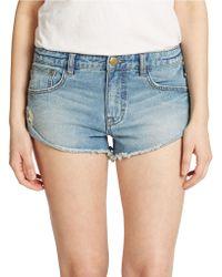 Free People Irreplaceable Cutoff Denim Shorts - Lyst