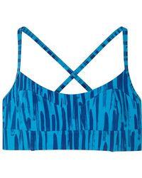 Alternative Apparel - Knock Out Printed Stretch Cotton Bra Top - Lyst
