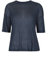 Topshop Ribbed Tee by Boutique  Navy Blue - Lyst