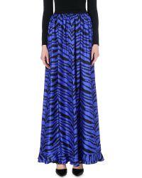 Emanuel Ungaro Zebra-Print Silk Skirt - Lyst
