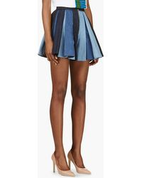 DSquared2 Blue Pleated Denim Malalu Skirt - Lyst