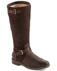 Ugg 'Thomsen' Waterproof Leather Knee High Boot brown - Lyst