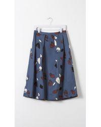 Nikki Chasin - Chase Midi Abstract Skirt - Lyst