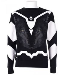 Marcelo Burlon Black Wolf Race Sweater - Lyst