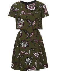 Topshop Womens Floral Overlay Dress  - Lyst