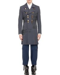 Comme des Garçons Double-Breasted Military Coat - Lyst