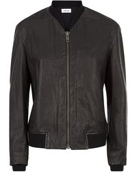 Helmut Lang Textured Leather Jacket - Lyst
