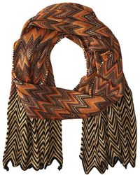 Missoni Brown scarves - Lyst